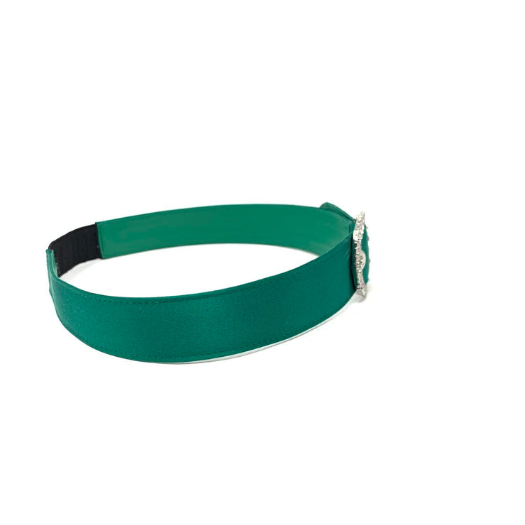Miu Miu Crystal Buckle Headband Emerald Green Prada Gucci Hairband From Runway With Love