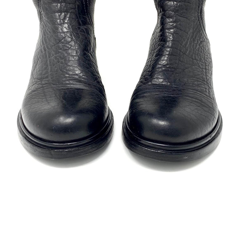 Miu Miu Leather Knee-High Boots - Size 36.5