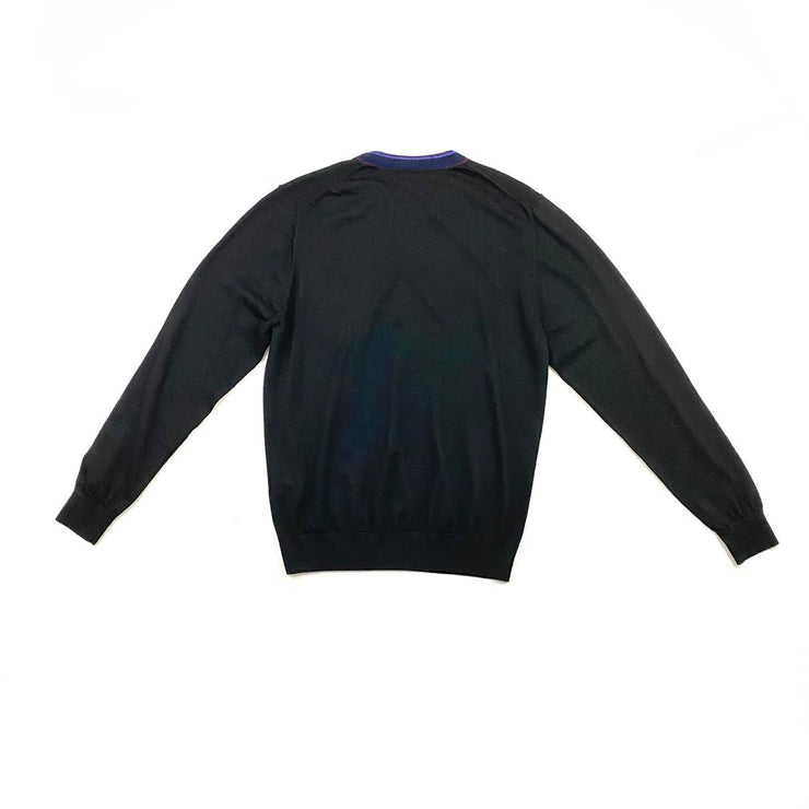 Paul Smith Crew Neck Rib Knit Sweater  Consignment Shop From Runway With Love