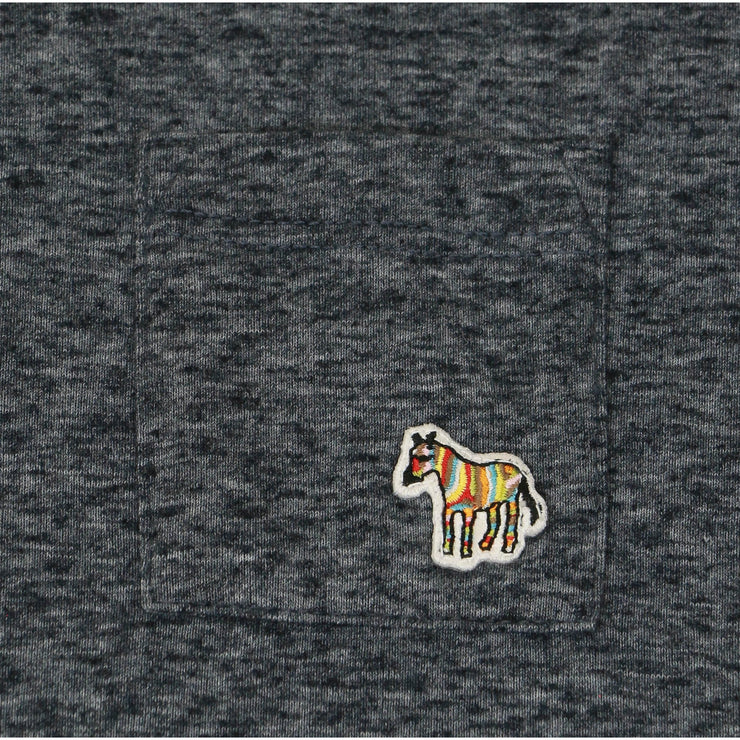 kids Paul Smith Gray Long Sleeve Shirt with Zebra