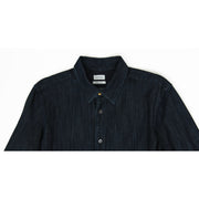 Paul Smith dark blue denim button down shirt mens