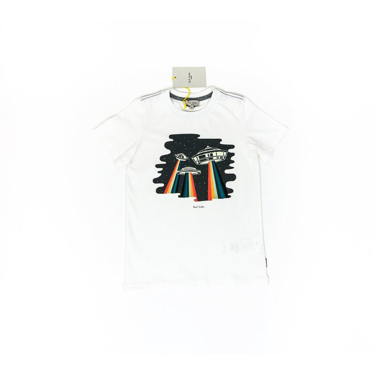 Paul Smith White Glow in the Dark UFO T-shirt