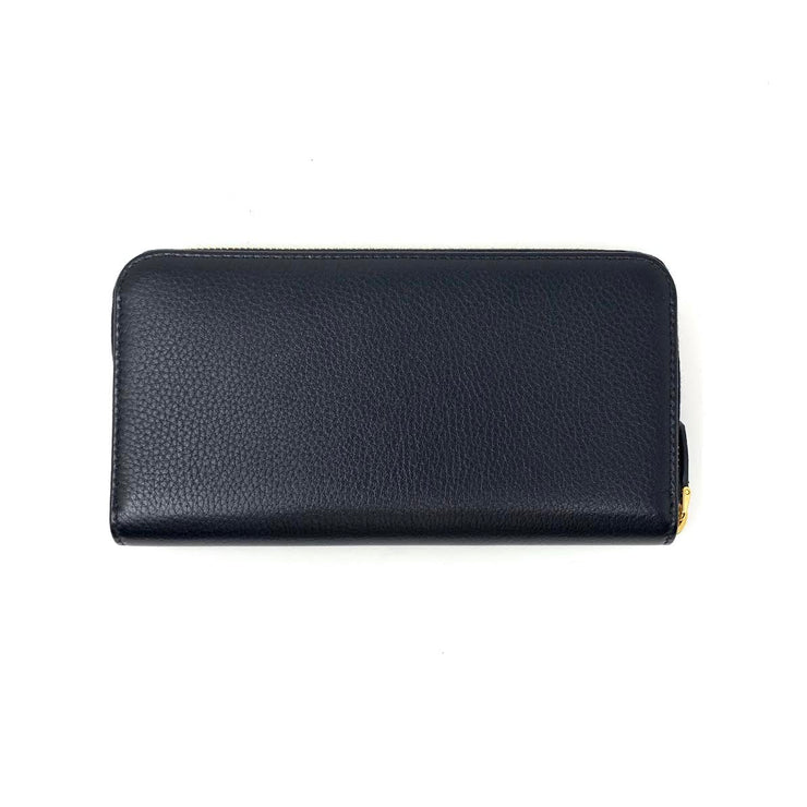 Prada Continental Wallet Black Leather Gold Consignment Shop From Runway With Love