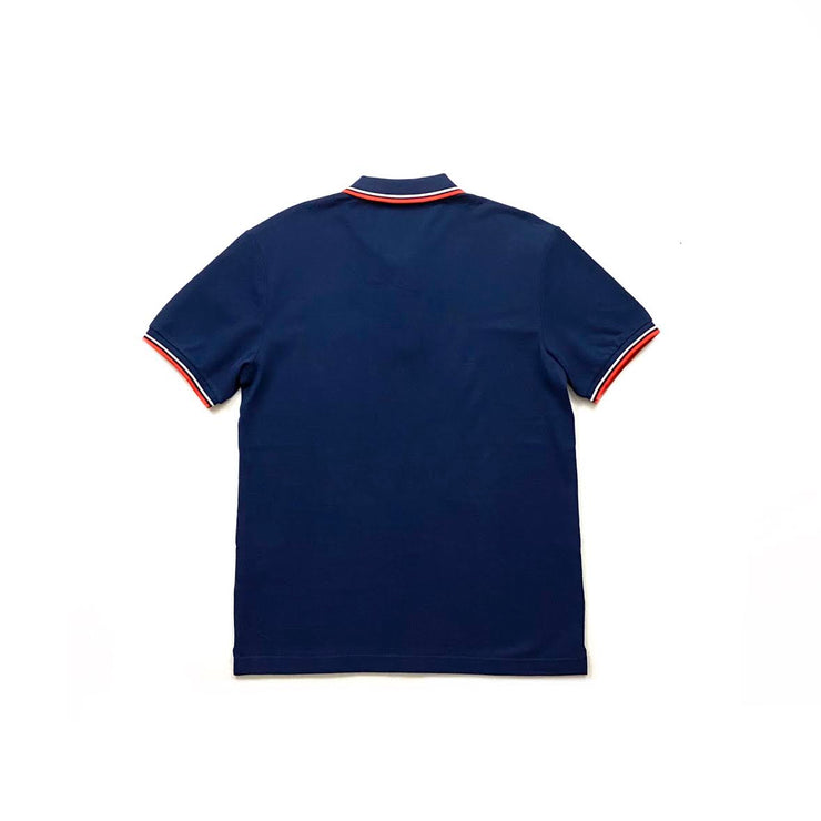 Prada Short Sleeve Polo Shirt Logo Navy Blue Consignment Shop From Runway With Love