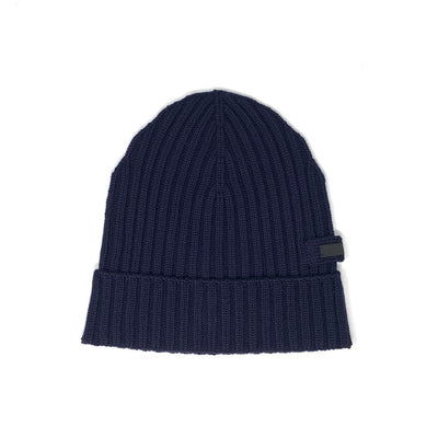Prada Navy Blue Wool Hat Beanie Consignment Shop From Runway With Love
