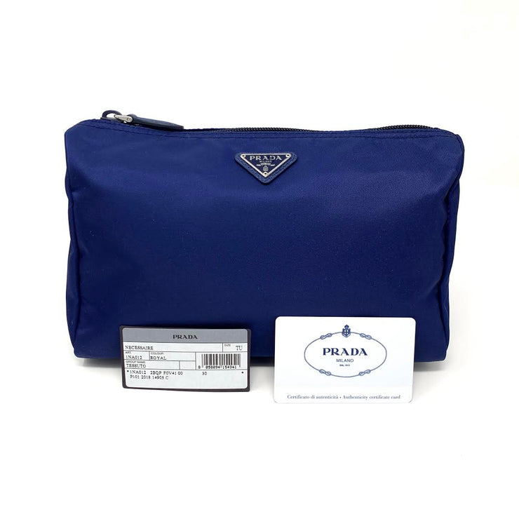 Prada Nylon Cosmetic Case In Midnight Blue w/ Tags