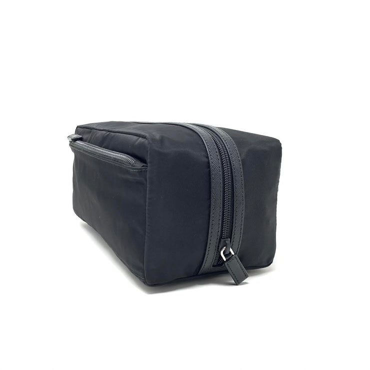 Prada Nylon Toiletry Bag Black Saffiano Consignment Shop From Runway With Love