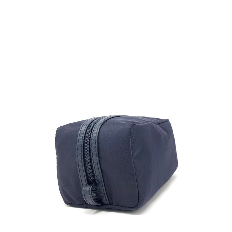 Prada Nylon Toiletry Bag in Navy Saffiano Consignment Shop From Runway With Love