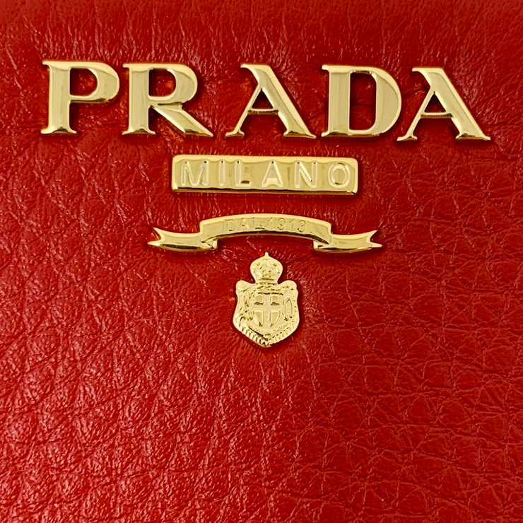 Prada Continental Wallet Red Leather Consignment Shop From Runway With Love