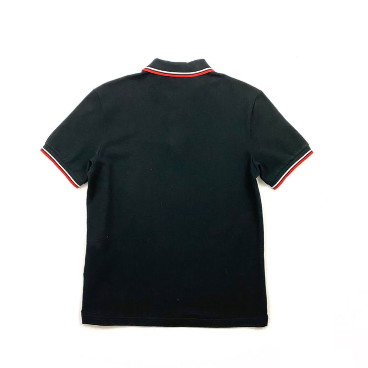 Prada Short Sleeve Polo Shirt Logo Black Consignment Shop From Runway With Love