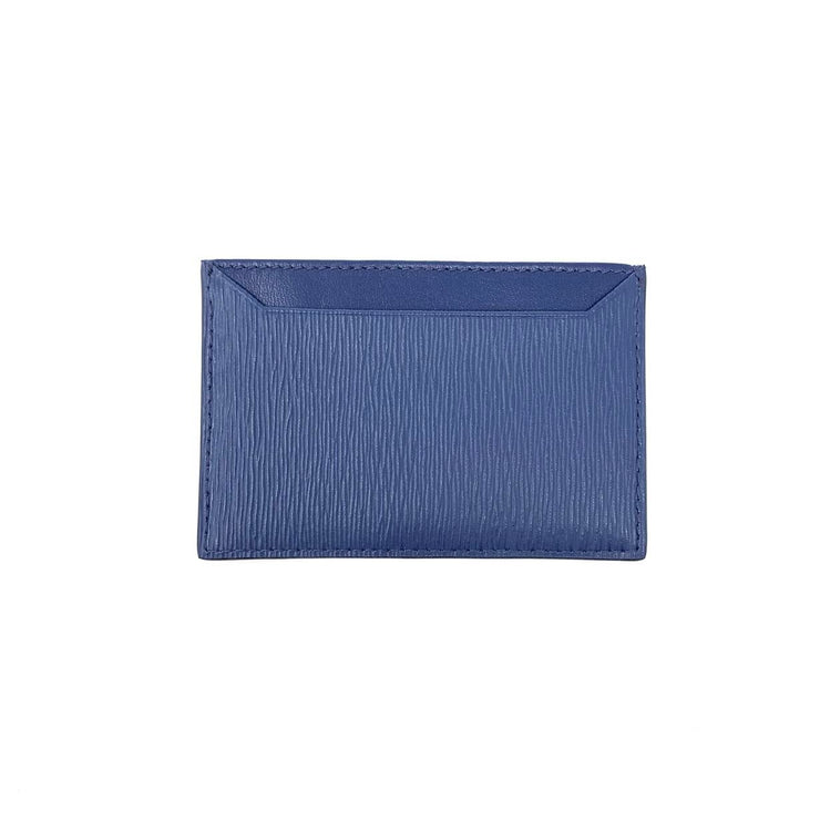Prada Vitello Move Card Holder Blue Consignment Shop From Runway With Love