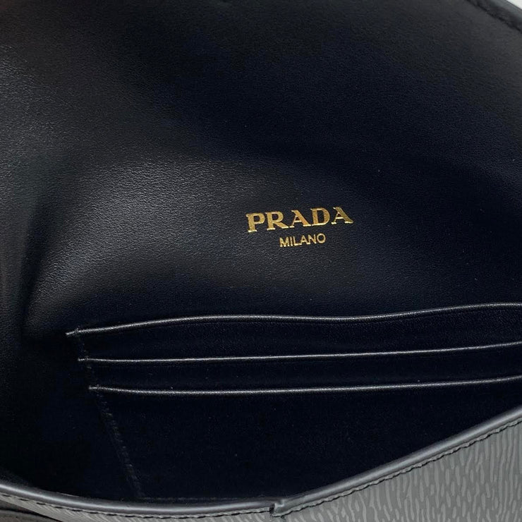 Prada Vitello Move Envelope Clutch w/ Tags