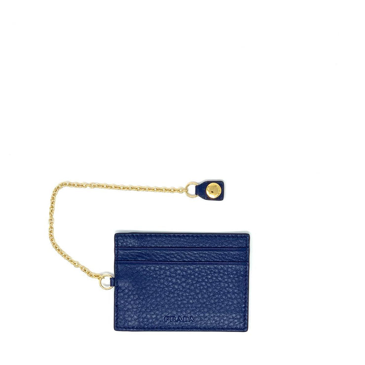 Prada Continental Flap Wallet Blue Leather Designer Consignment From Runway With Love