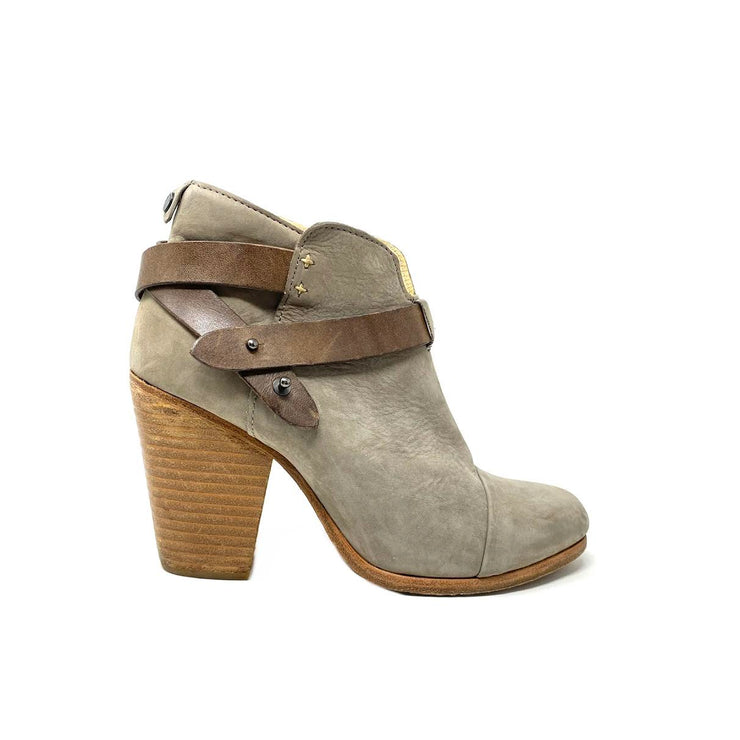 Rag & Bone Suede Ankle Boots Straps Brown Consignment Shop From Runway With Love