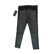 Rag & Bone Hyde Leather Panel Skinny Jeans