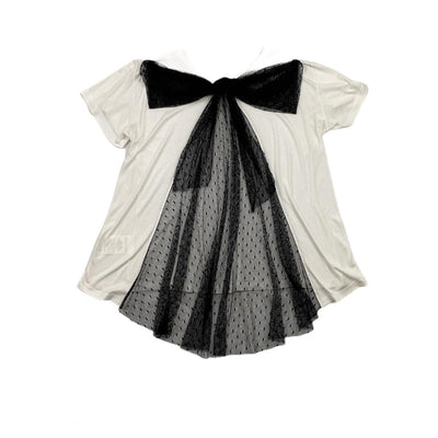 Red Valentino White T-Shirt Black Bow Consignment Shop From Runway With Love