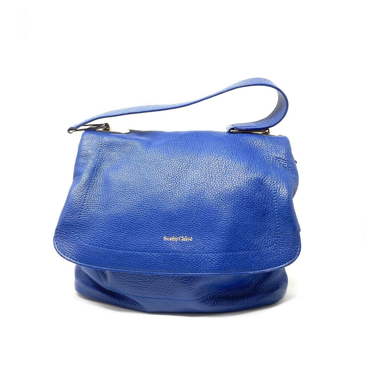 See By Chloe Leather Satchel Handbag Blue Consignment Shop From Runway With Love