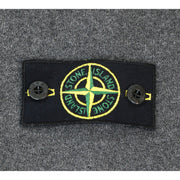 Stone Island gray sweater front pocket logo arm patch