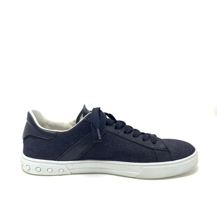 Tod's Denim Sneakers Designer Consignment From Runway With Love
