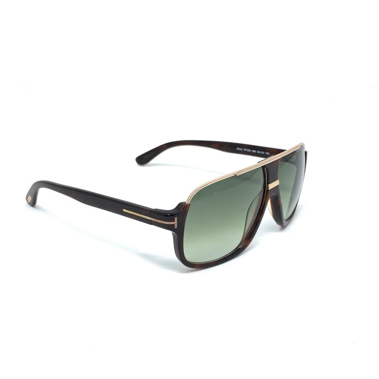 Tom Ford Elliot Square Sunglasses TF335 Dark Havana Designer Consignment From Runway With Love