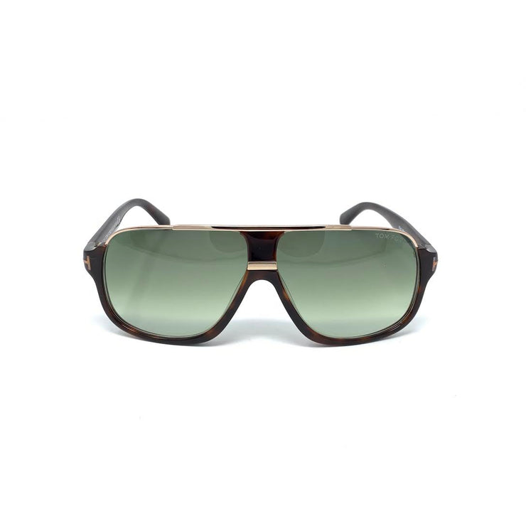de0afbbaf17 Tom Ford Elliot Square Sunglasses TF335 Dark Havana Designer Consignment  From Runway With Love