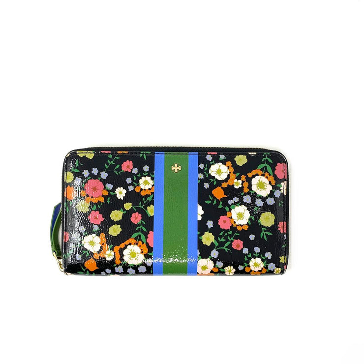 Tory Burch Floral Continental Wallet Strip Consignment Shop From Runway With Love