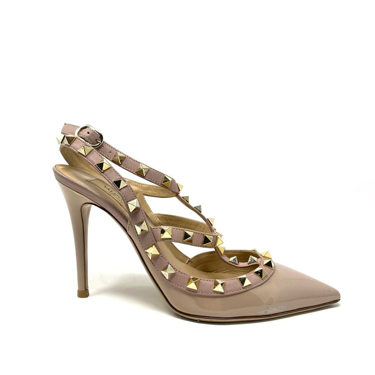 Valentino Rockstud Patent Leather Pumps - Size 36.5