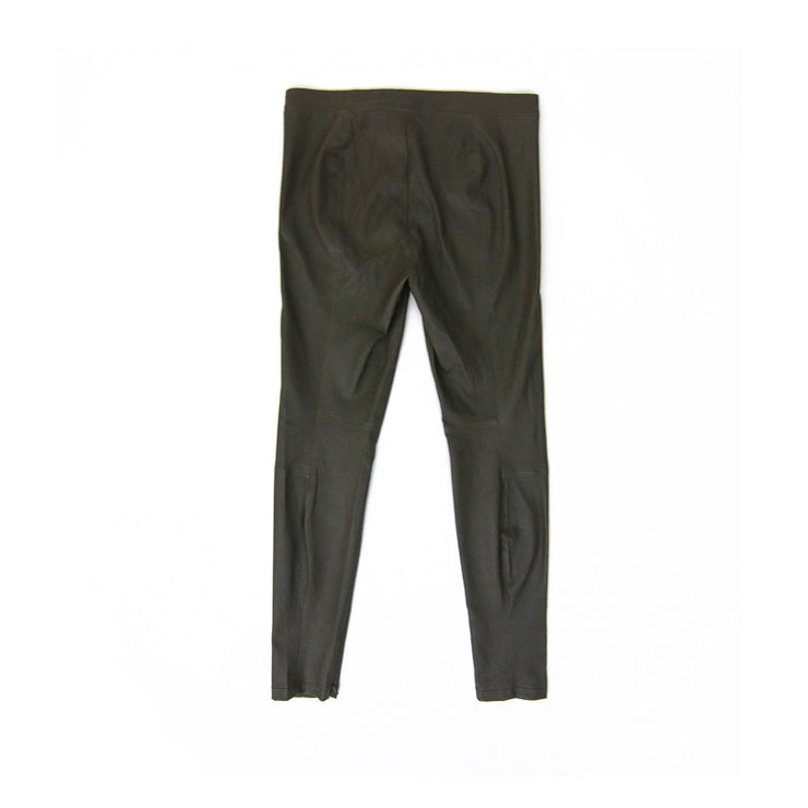 Vince Brown Leather Leggings designer consignment