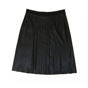 Vince Leather Skirt in Black w/ Tags - Size 12