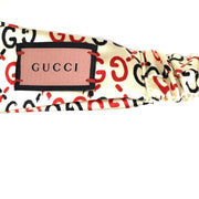 white Gucci silk Duchesse headband GG ghost Consignment Shop From Runway With Love