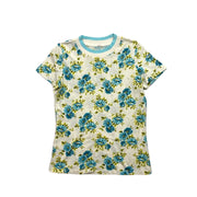Zimmermann Floral Print Blue T-Shirt consignment shop from runway with love
