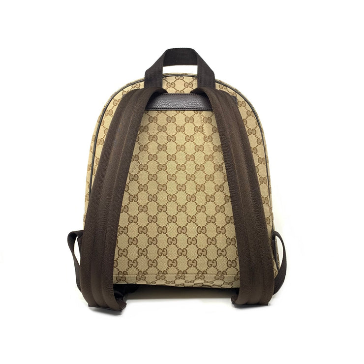 Gucci GG Supreme Beige Canvas Backpack