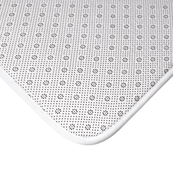 Back of microfiber memory foam bath mat showing anti-slip backing