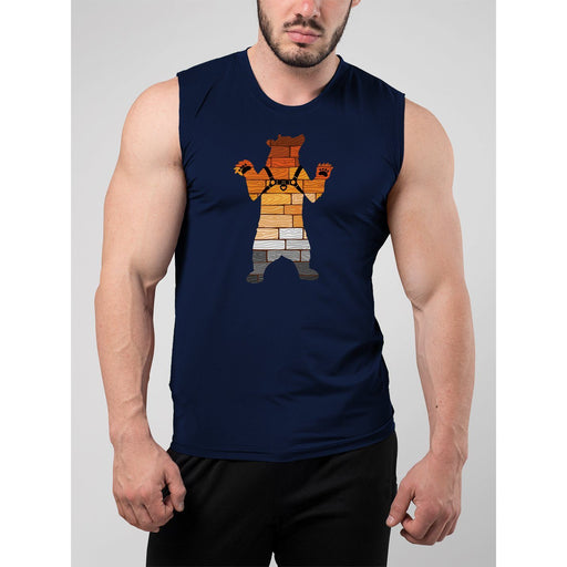 Gay Pride Bear Harness Muscle Tank Top