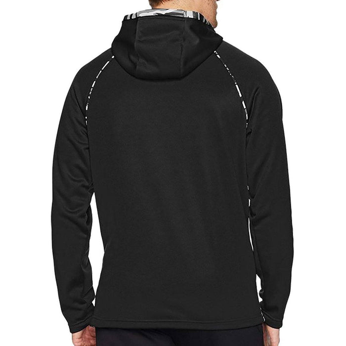 Back of Black camo hoodie