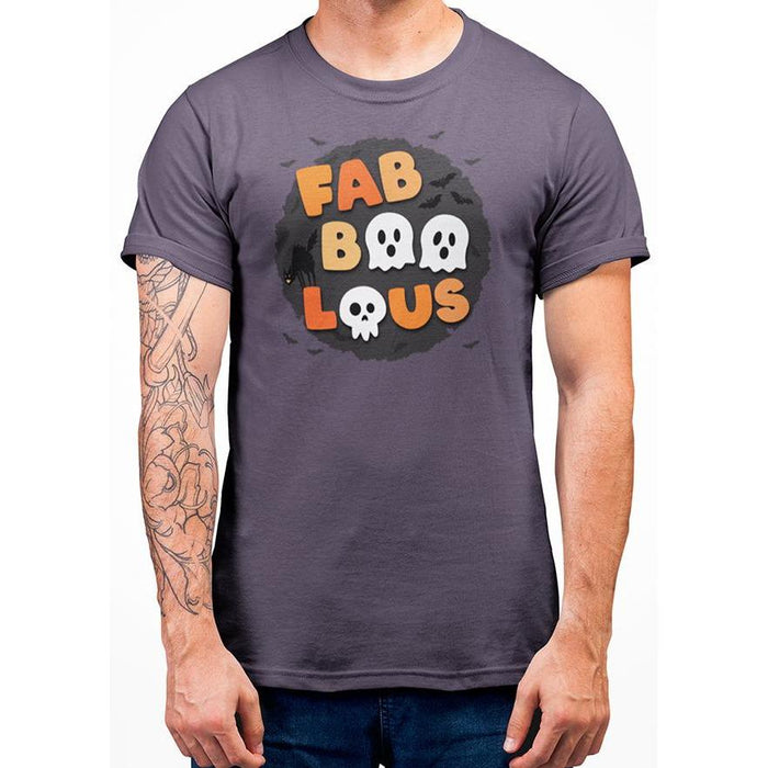 Blacl Berry cotton halloween t-shirt with bats and wording fabboolous