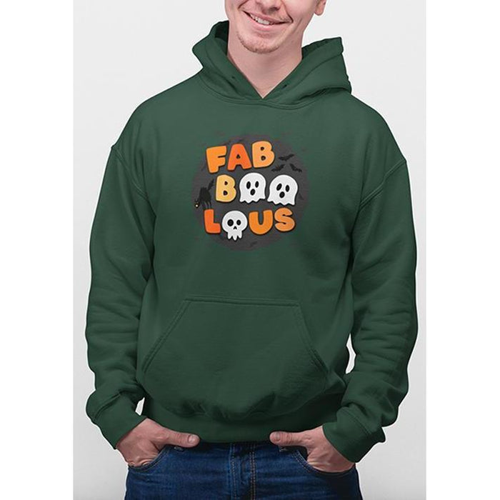 Deep Forest halloween hoodie with text fabboolous in halloween colors