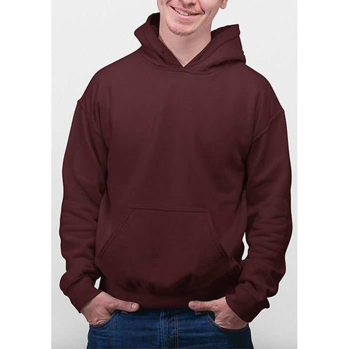 Maroon hanes hoodie 50% cotton, 50% polyester