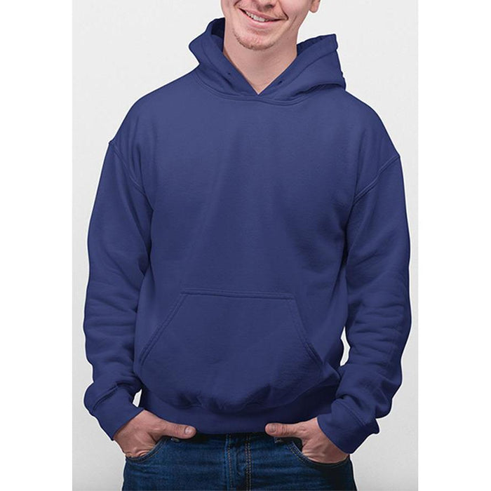 Navy Blue hanes hoodie 50% cotton, 50% polyester