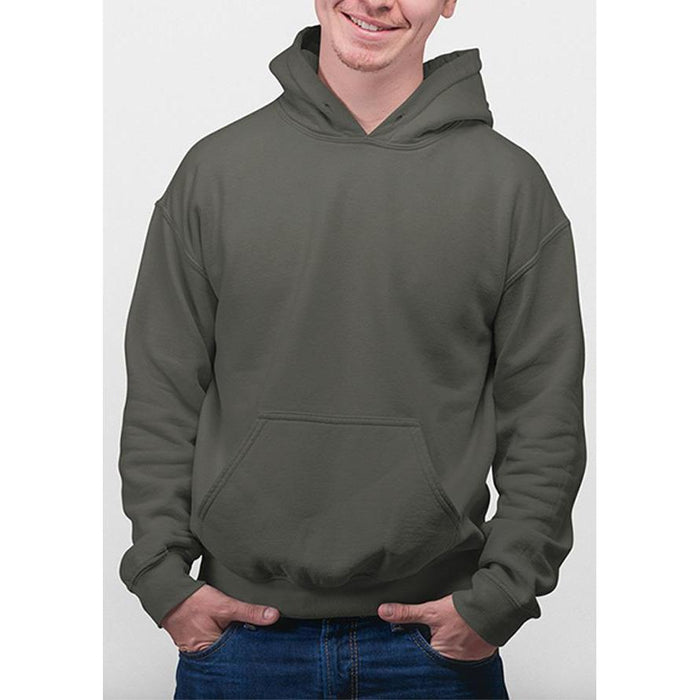 Smoke Grey hane hoodie 50% cotton, 50% polyester