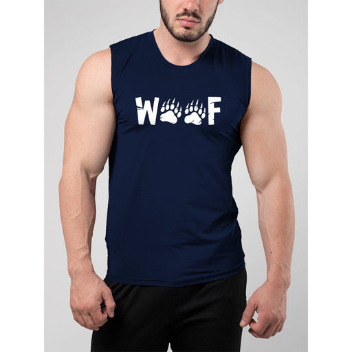 Woof Wording Muscle Tank Top