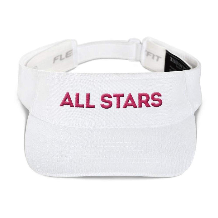 White visor with matfhing undervisor Hook & loop closure pink embroidered All Star Logo