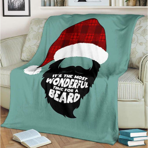 Most Wonderful Time For A Beard Throw Blanket
