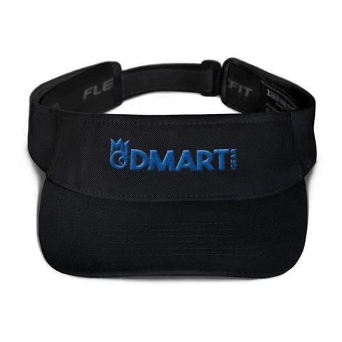 Black visor with matching undervisor Hook & loop closure blue embroidered dMart Gear Logo