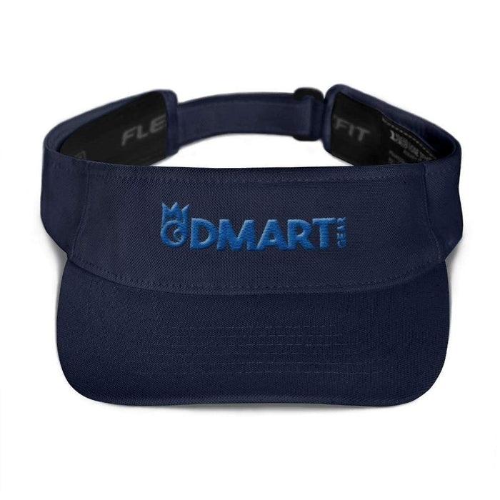 Navy Blue visor with matching undervisor Hook & loop closure blue embroidered dMart Gear Logo