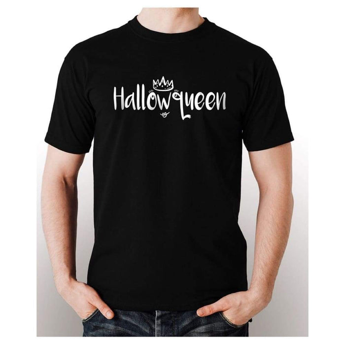 Black t-shirt 100% pre-shrunk cotton glow in the dark  Hallowqueen image