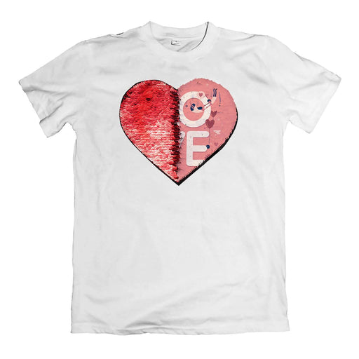 Custom Sequin Men T-Shirts (Heart)