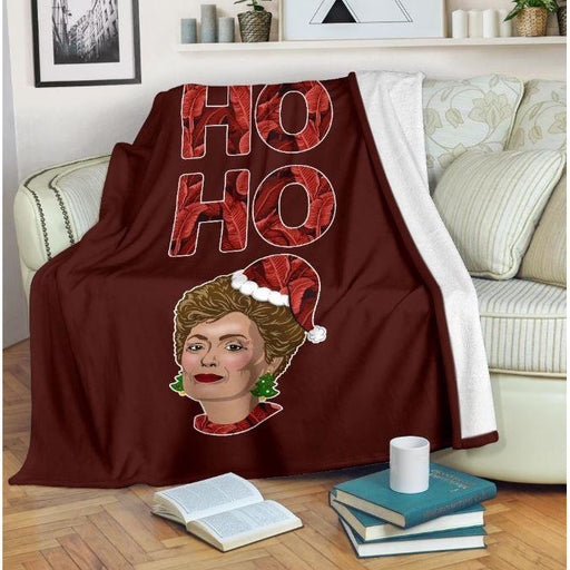 Ho Ho Ho Christmas Throw Blanket