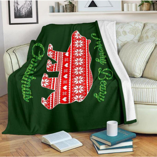 Merry Beary Christmas Throw Blanket