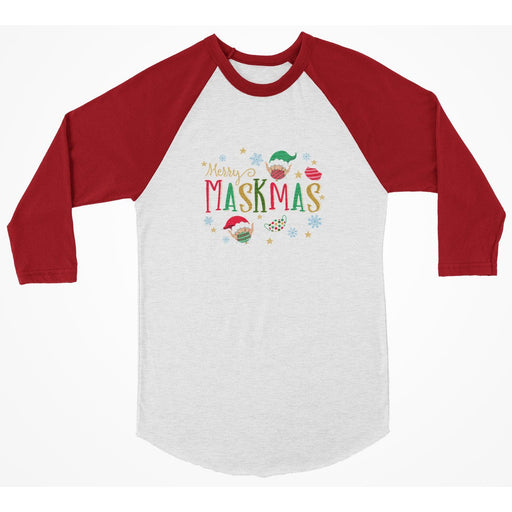 Merry Maskmas 3/4 Sleeve Christmas Shirt